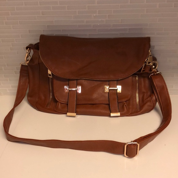 Call It Spring Handbags - Call It Spring brown faux leather messenger bag 1df50c83e17ae